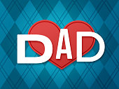 Father's day love dad background concept.