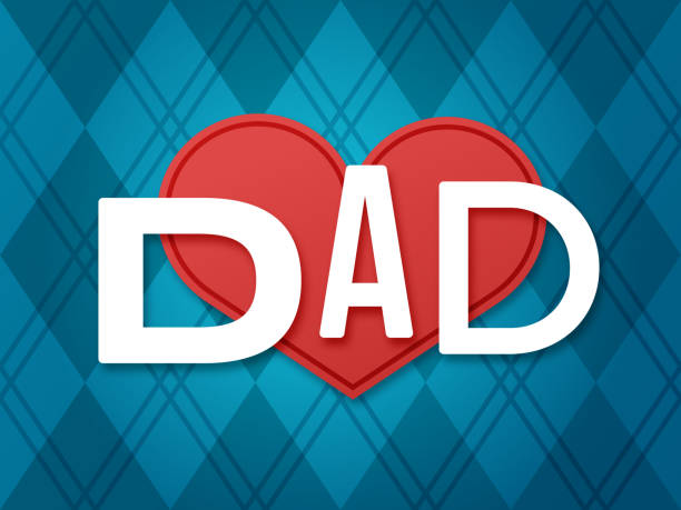 Father's Day Love Dad Father's day love dad background concept. father stock illustrations