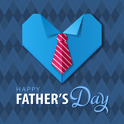 Father's Day Origami Heart Shirt