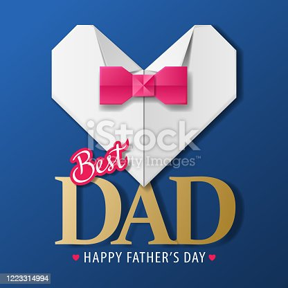 Father's Day Origami Shirt & Bow Tie