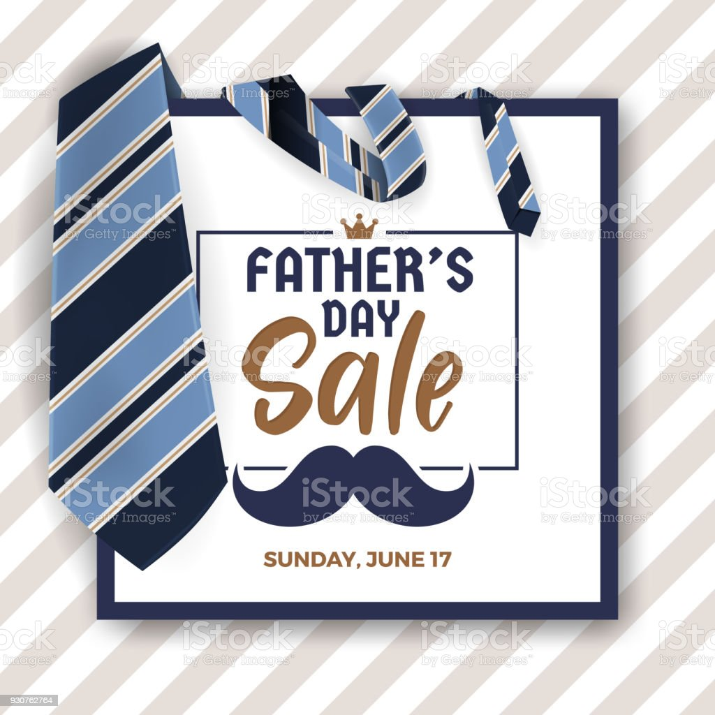 Father's Day Sale Promotion Banner vector art illustration