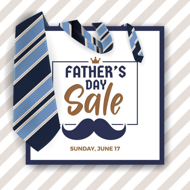 father's day sale promotion banner - fathers day stock illustrations, clip art, cartoons, & icons