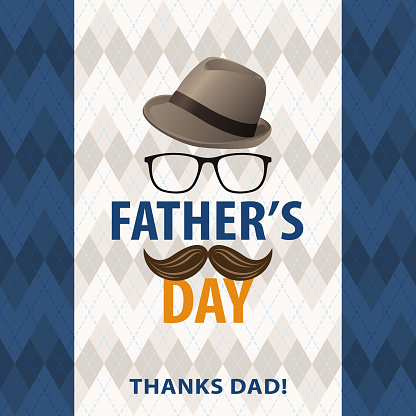 Fathers Day Thanks Dad Stock Illustration - Download Image Now