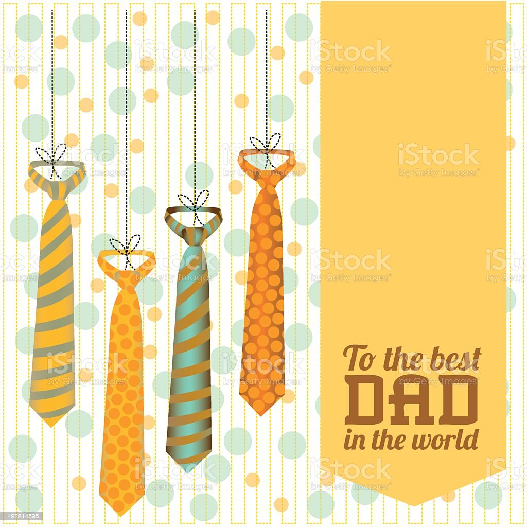 Father's Day royalty-free stock vector art