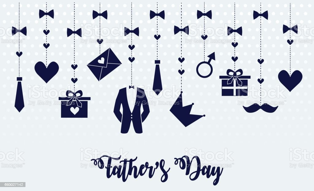 Father's Day vector art illustration