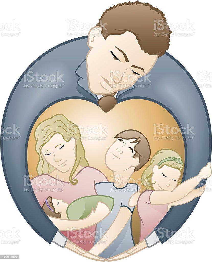 Vater und seiner Liebe für Familien - Lizenzfrei Baby Vektorgrafik