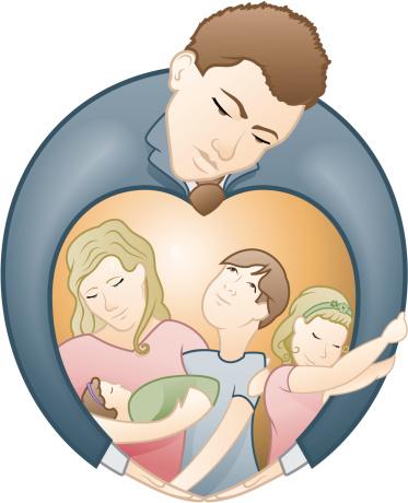 Vater Und Seiner Liebe Für Familien Stock Vektor Art und mehr Bilder von Baby