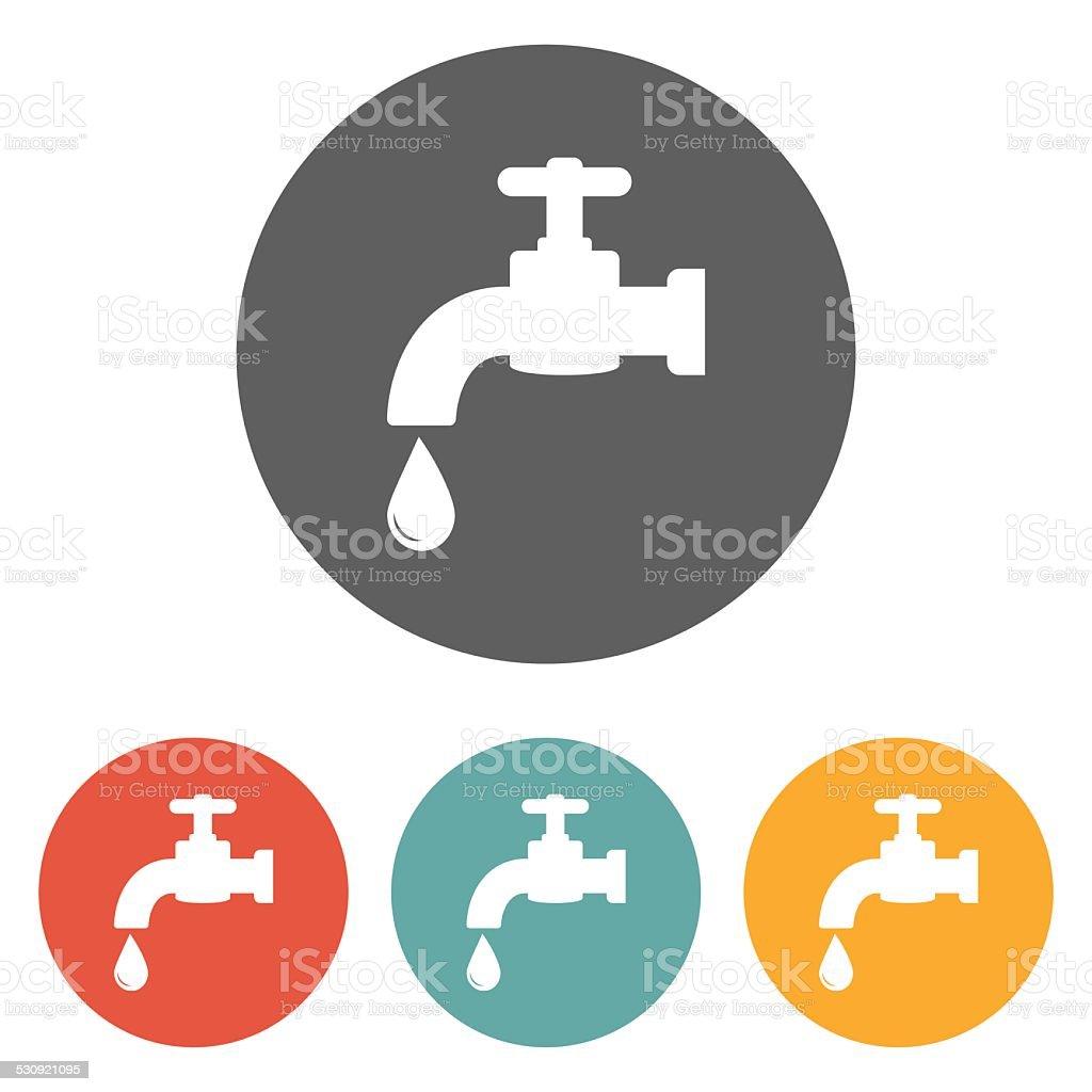 faucet icon vector art illustration