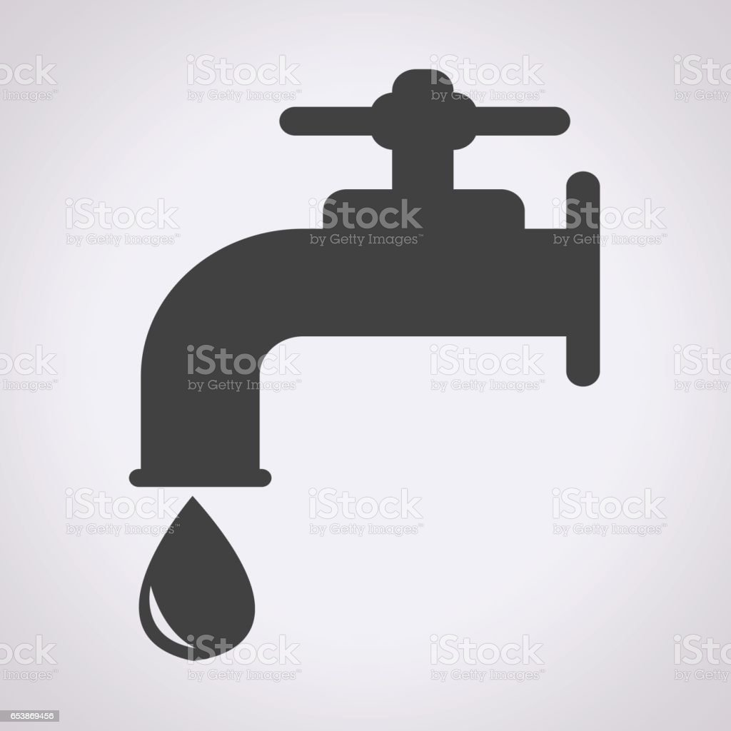 Faucet Icon Stock Vector Art & More Images of Environment 653869456 ...