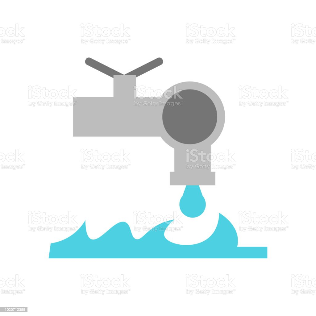 Faucet Icon Vector Sign And Symbol Isolated On White Background ...