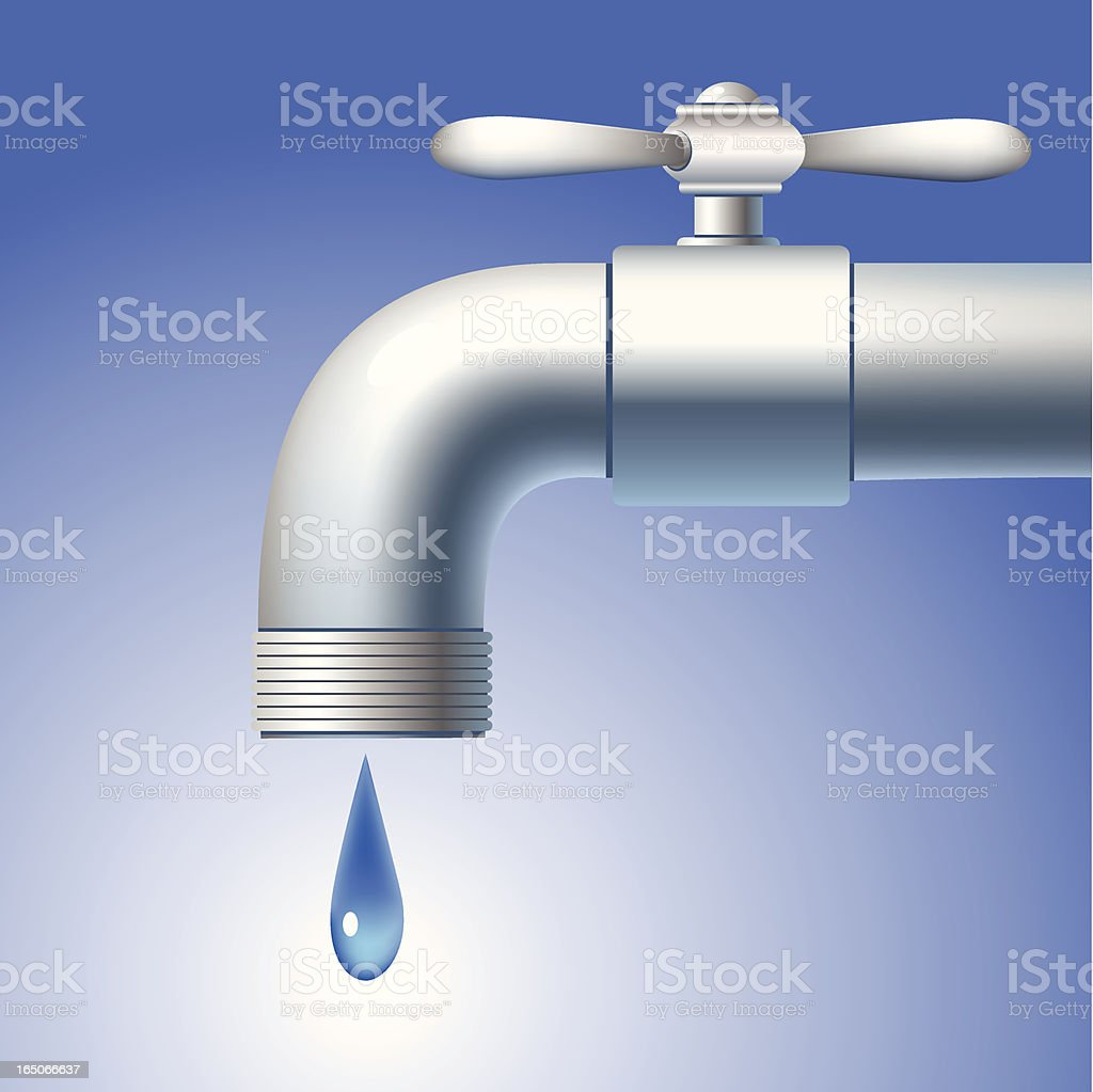 Faucet royalty-free stock vector art