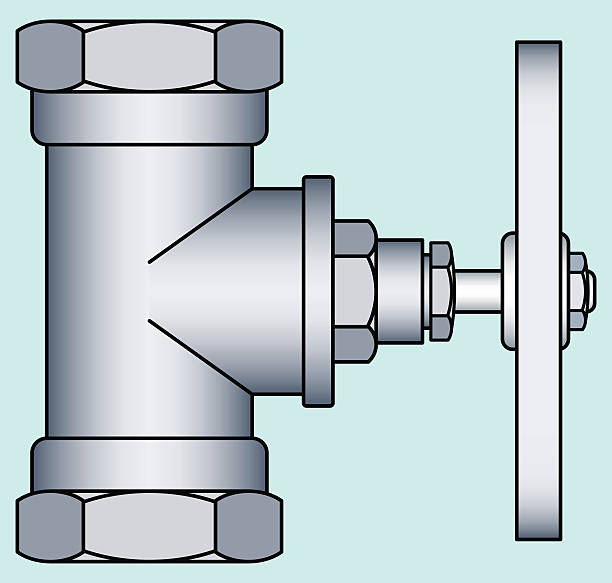 faucet - flange stock illustrations, clip art, cartoons, & icons