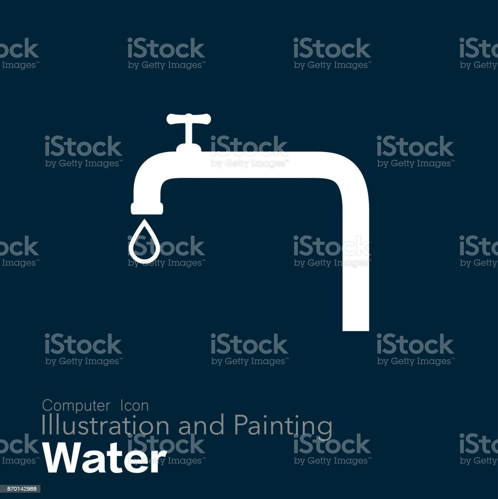 faucet vector art illustration