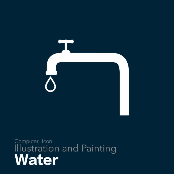 musluk - tap water stock illustrations