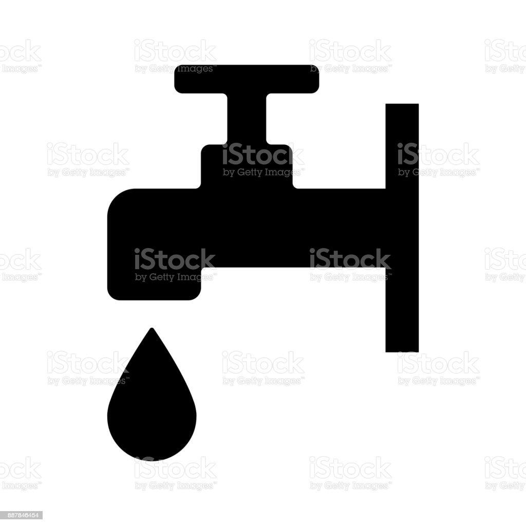 Faucet Water Icon Vector stock vector art 887846454   iStock