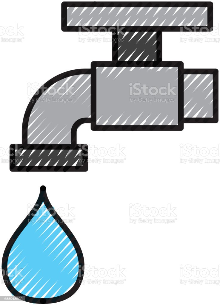 Faucet with drop water royalty-free faucet with drop water stock vector art & more images of abstract