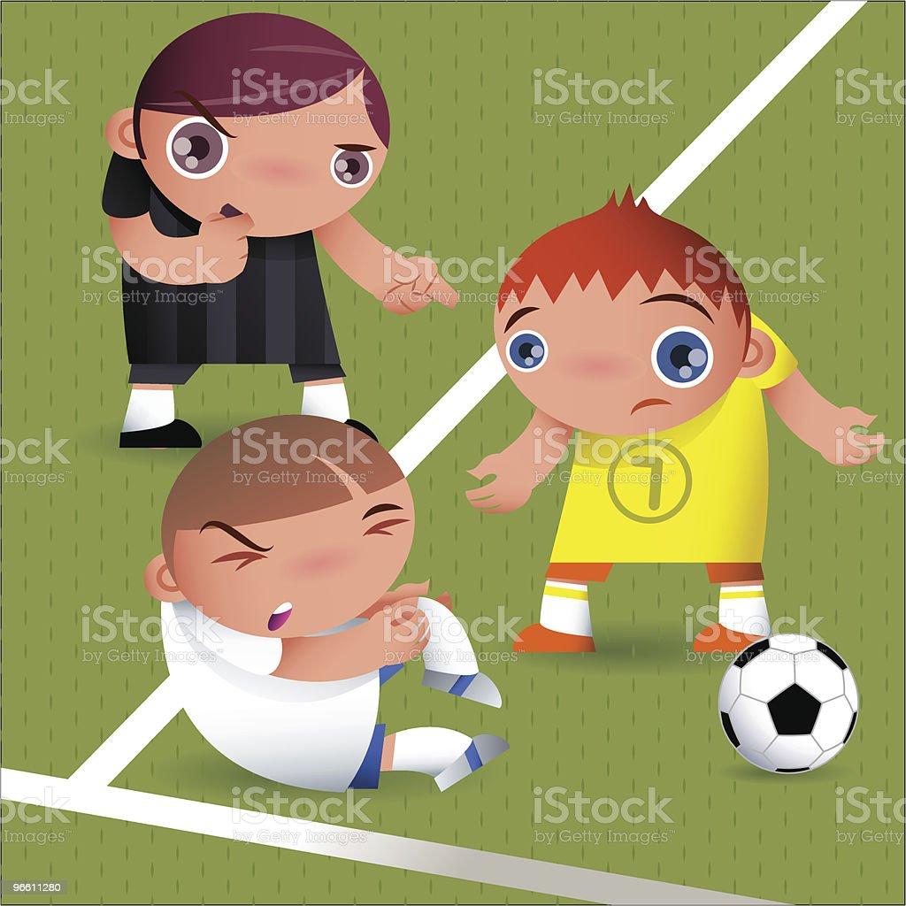 fault (football/soccer) - Royalty-free Alleen tieners vectorkunst