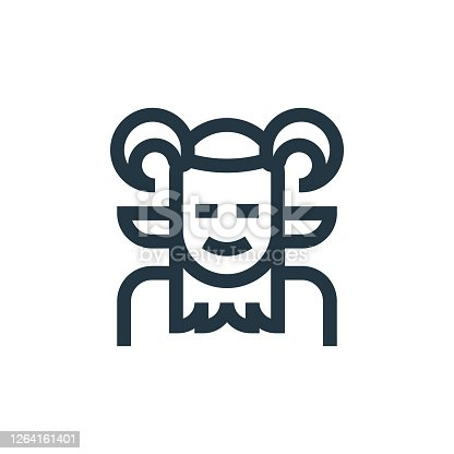 faun vector icon isolated on white background. Outline, thin line faun icon for website design and mobile, app development. Thin line faun outline icon vector illustration