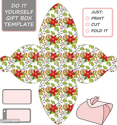 Favor gift box die cut box template stock vector art 485210844 istock solutioingenieria Images