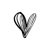 Favorite like isolated minimal heart icon. Heart line vector icon