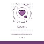 Favorite Love Plus Symbol Web Banner With Copy Space