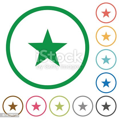 istock Favorite outlined flat icons 674098208