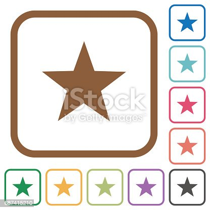istock Favorite simple icons 687415210