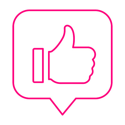 Favorite, thumbs up line icon