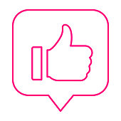 istock Favorite, thumbs up line icon 1267949945