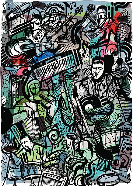 illustrazioni stock, clip art, cartoni animati e icone di tendenza di musicisti preferiti - arte, cultura e spettacolo