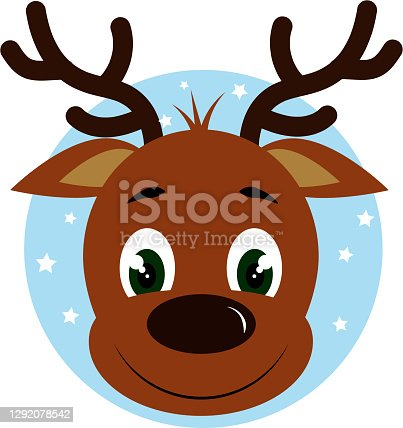 istock fawn head on blue background 1292078542