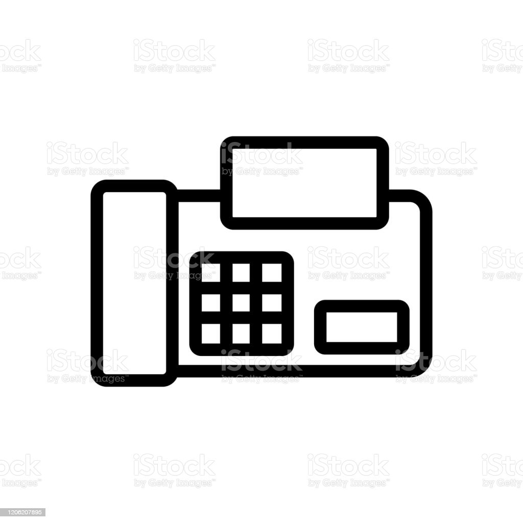 fax icon vector isolated contour symbol illustration stock illustration download image now istock fax icon vector isolated contour symbol illustration stock illustration download image now istock