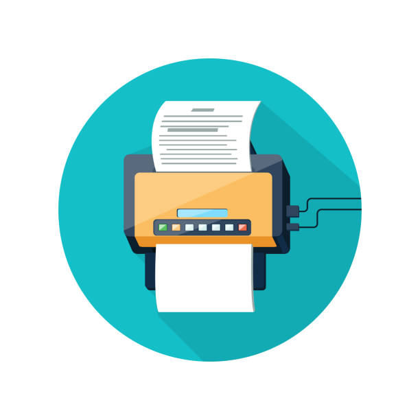 Best Fax Machine Illustrations, Royalty-Free Vector -1300