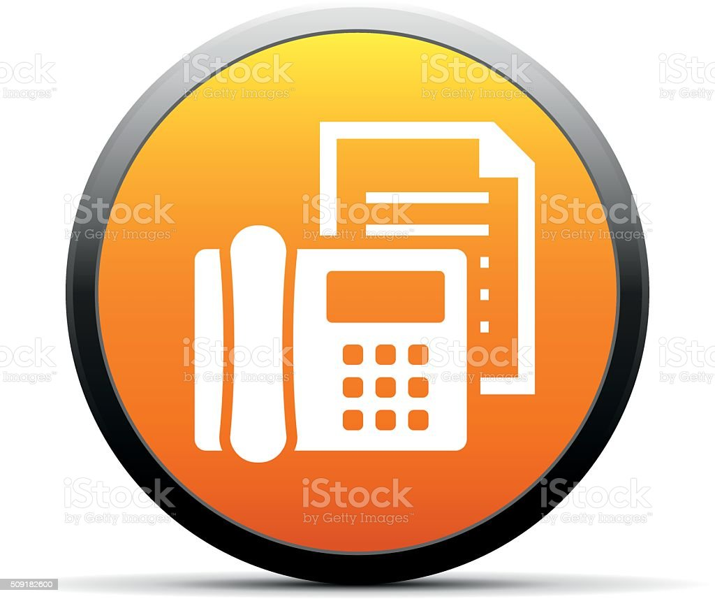 fax machine icon on a round button simpleseries stock vector art