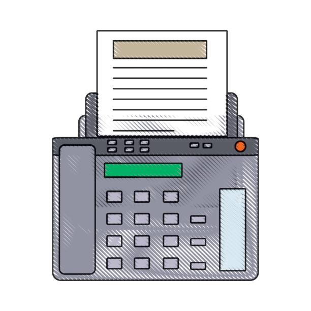 Royalty Free Old Fax Machine Clip Art, Vector Images -7313