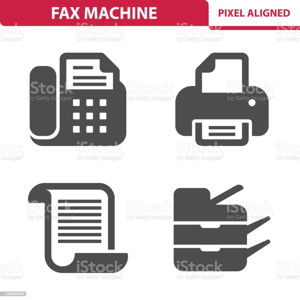 Fax Machine Icons