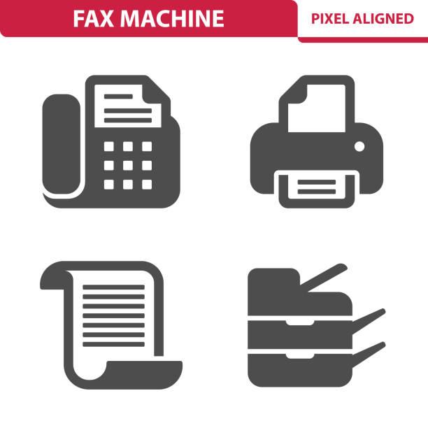 fax machine icons - kopiować stock illustrations
