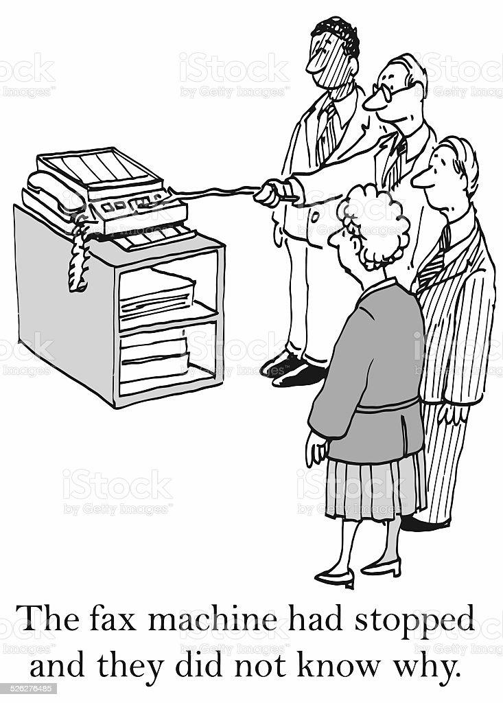 Faxgerät funktioniert nicht – Vektorgrafik