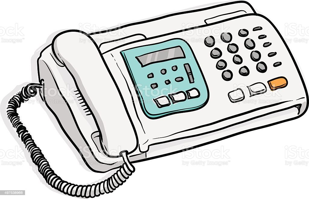 royalty free copy machine doodle clip art vector images rh istockphoto com  fax machine clipart free