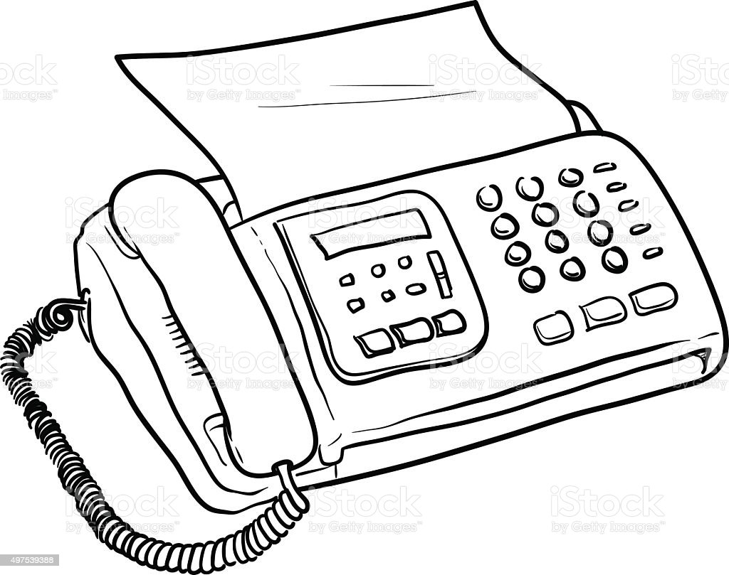 Fax Machine Vector Stock Illustration - Download Image Now -8400