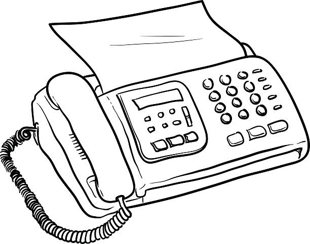 Royalty free drawing of the fax clip art vector images fax machine vector vector art illustration sciox Gallery