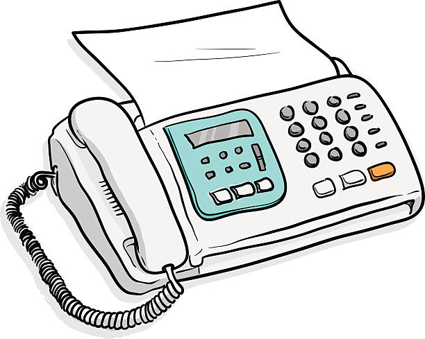 Best Drawing Of The Fax Illustrations, Royalty-Free Vector -5240