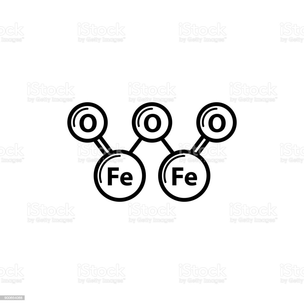 Fe2o3 Icon Iron Oxide Or Ferric Oxide Icon Stock