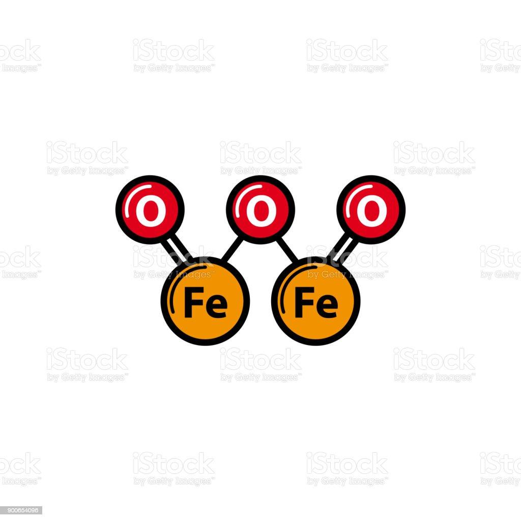 Fe2o3 icon iron oxide or ferric oxide icon stock vector art more fe2o3 icon ironiii oxide or ferric oxide icon royalty free fe2o3 buycottarizona