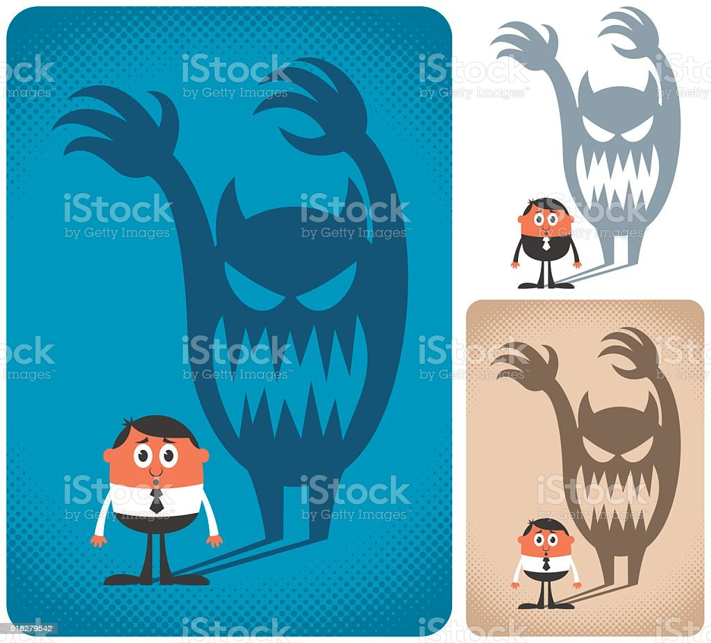 Fear vector art illustration