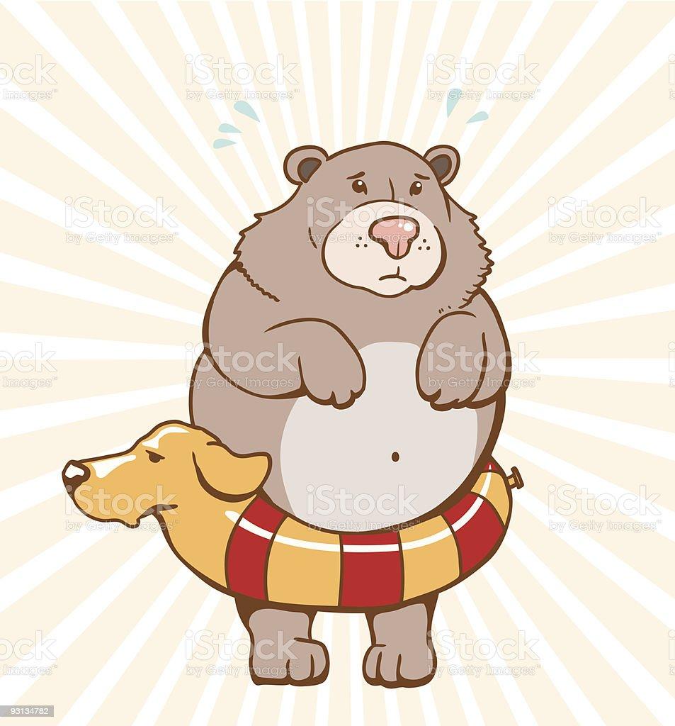 fearful bear royalty-free stock vector art