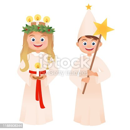 Feast Day of Saint Lucy vector character isolated on white