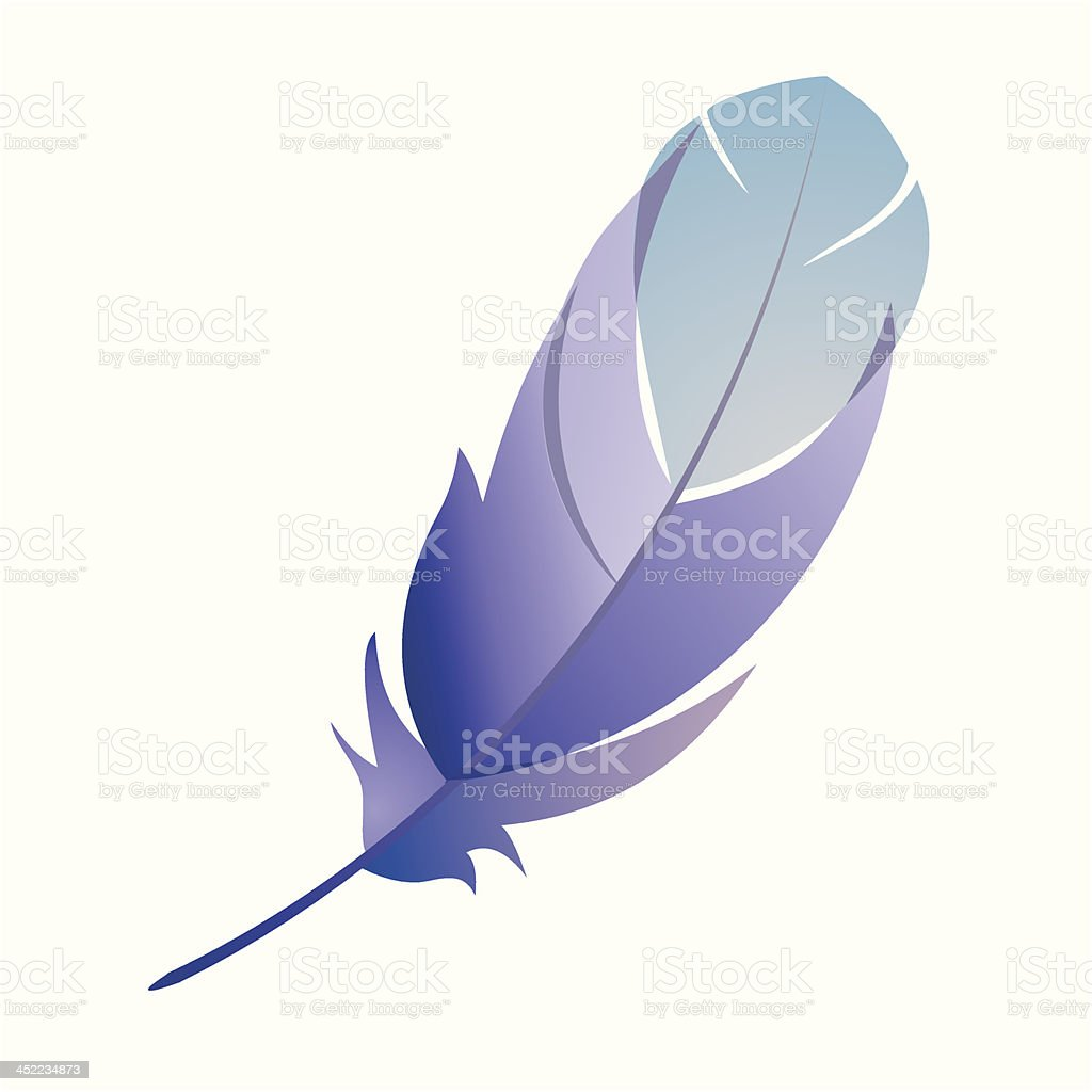 Feather detailed royalty-free stock vector art