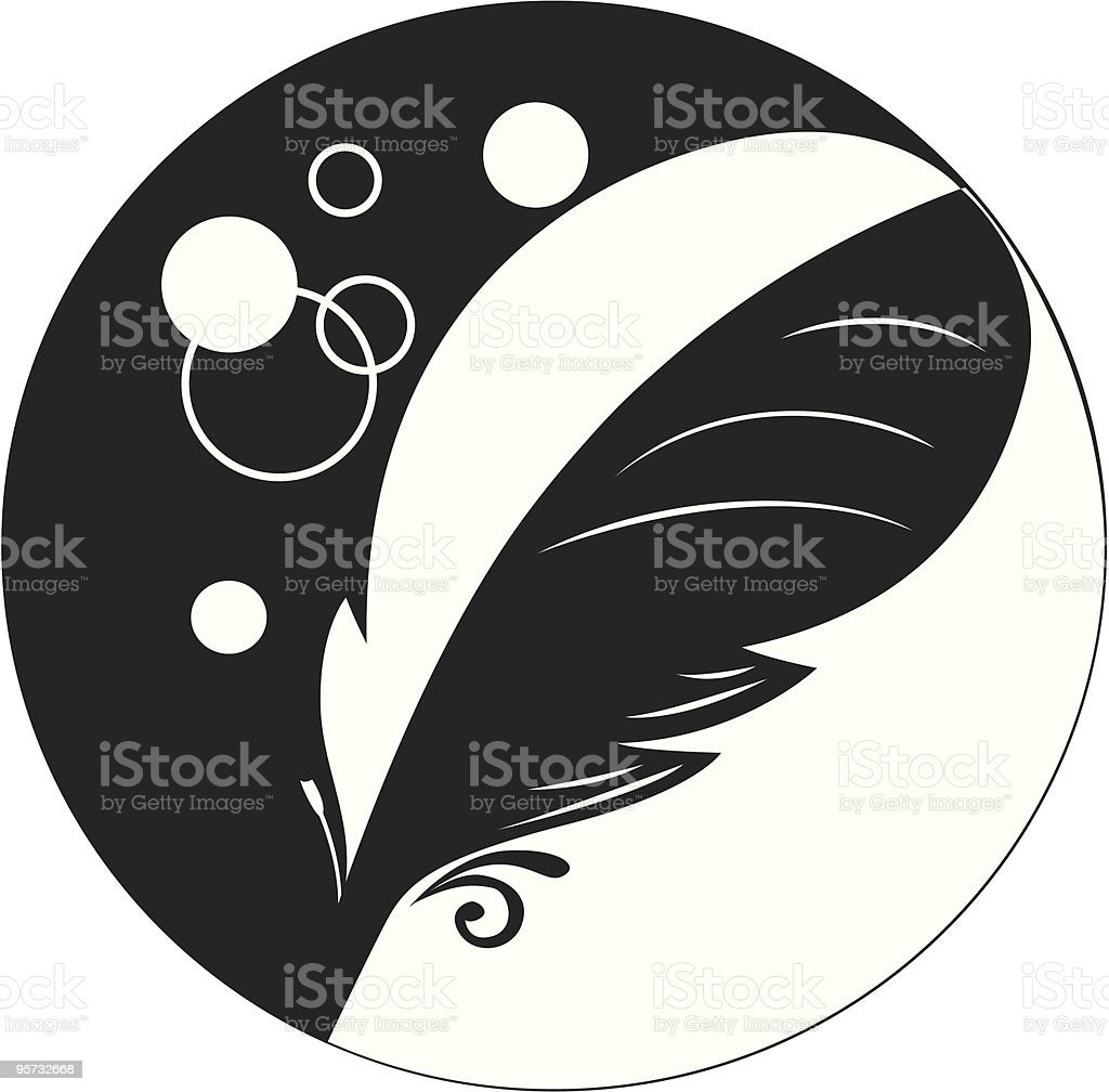 feather icon royalty-free stock vector art