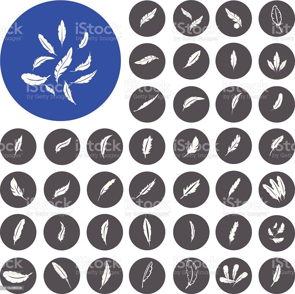 Feder Symbole set.  Vektor-Illustration eps10 – Vektorgrafik